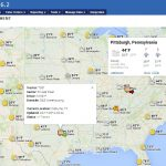 Real Time Weather Map web based TMS Overlay