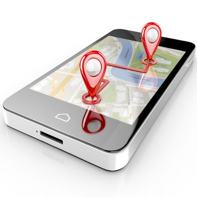 Mobile Tracking App on Handheld Image
