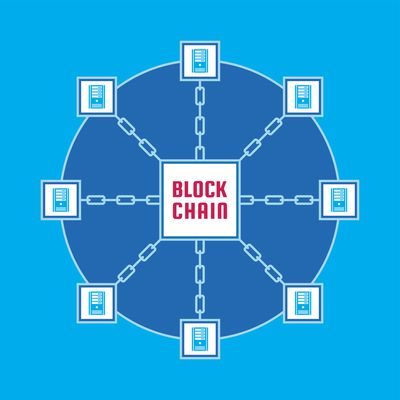 Blockchain graphic