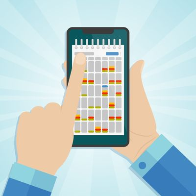 Scheduling on tablet graphic